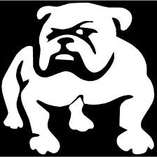 "Bulldog - 4"" x 4"" - Vinyl Die Cut Decal Bumper Sticker For Windows, Cars, Trucks, Laptops, Etc."