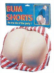 [Men's Costume: Bum Shorts (Sold by 1 pack of 2 items) PROD-ID : 1468113] (Bum Shorts Costume)