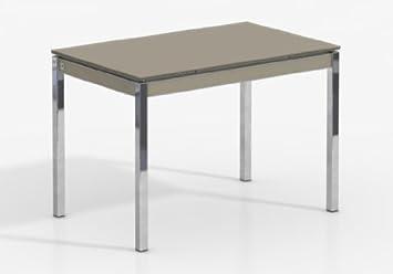 Gambe Per Tavoli Cromate.Tavolo Allungabile Bambola Gambe Cromate 100 X 75 Cms In
