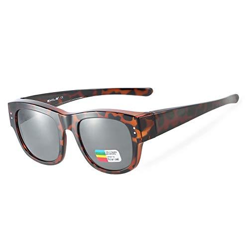 Oversized Sunglasses Over Prescription Glasses Polarized Fits Over Glasses for Women UV400 Protection ()