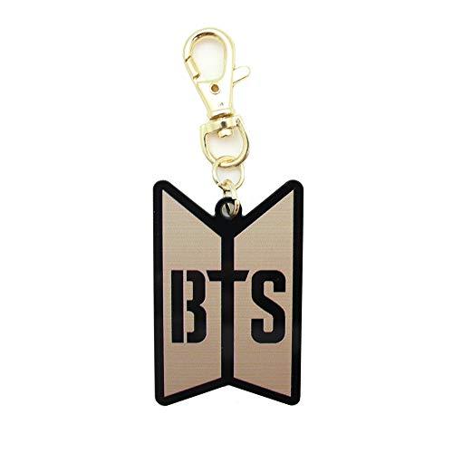 Stationery K-POP BTS Bangtan Boys Logo Key Chain Black and Gold : BTS 2 - Gold Logo Keychain