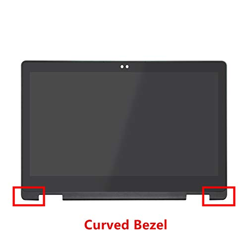 LCDOLED Compatible 15.6 inch FHD 1920x1080 LP156WF7(SP)(EC) IPS LCD Display Touch Screen Digitizer Assembly + Curved Bezel Replacement for Dell Inspiron 15 P58F P58F001 (NOT for Right-Angled Bezel)