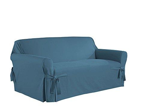 Duck Loveseat Slipcover (Serta Relaxed Fit Duck Furniture Slipcover for Love Seat, Indigo)
