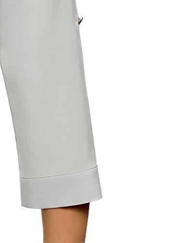 Grigio Donna Ultra con oodji Camicetta in Fluido Tessuto 2300n Taschini CRcwq8Uq