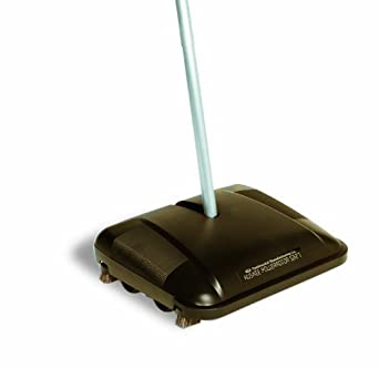 "CMC 5327 Huskee Powerrotor Floor and Carpet Sweeper, 10-1/2"" Length x 12-1/2"" Width x 46"" Height, Black (Case of 5)"