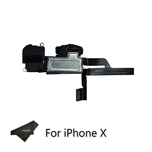 VANYUST Replacement Earpiece Sound Speaker with Light Sensor Flex Cable Parts Compatible for iPhone X (5.8 inch) ()