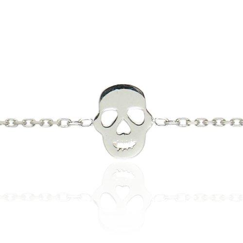 Tous mes bijoux - BRXCAR001 - Bracelet Femme - Tête de Mort - Argent 925/1000 1.2 gr - 18 cm
