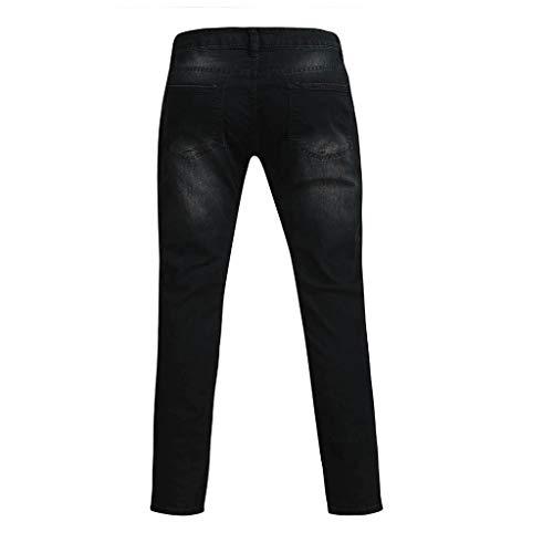 Détresse Automne En Coton Trou Avec Poche Denim Ihaza À Homme Droit Jeans Noir2 Pantalon 46WqwX7a