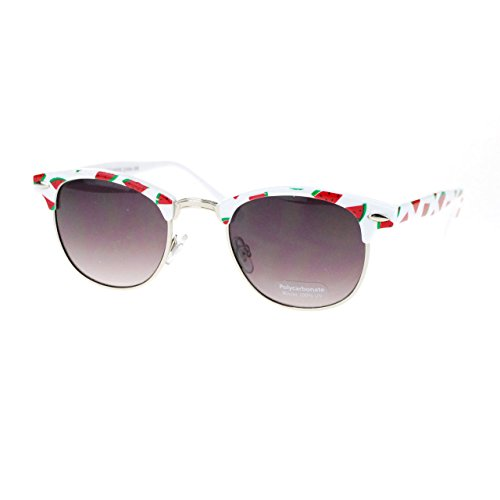 Womens Cutie Fruit Print Clubmaster Sunglasses - Sunglasses Watermelon