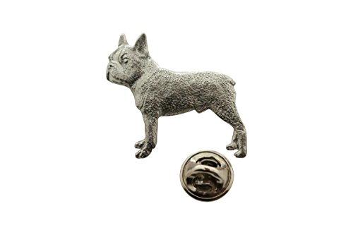 207b801c7e9f Sarah's Treats & Treasures Boston Terrier Pin ~ Antiqued Pewter ~ Lapel Pin