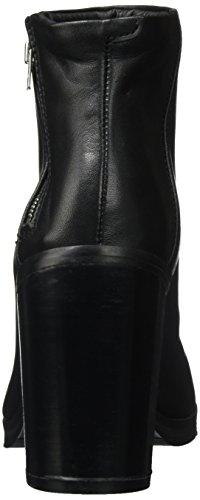 Bridge Zapatos Mujer Royal Zip Punta Para black Cerrada Schwarz Con De Republiq Tacón Boot HnnBx