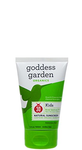 All Natural Biodegradable Sunscreen (Goddess Garden Organics Vegan and Biodegradable Kids SPF 30 Natural Sunscreen, Lotion, 3.4 Ounce)