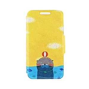 DD Kinston the Seal in the Water Pattern PU Leather Full Body Cover with Stand for iPhone 6 Plus