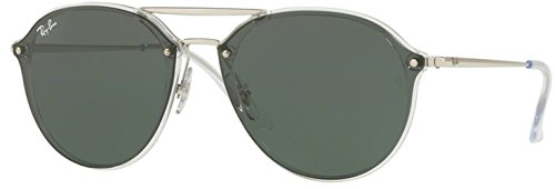 Ray-Ban 0rb4292n63257162blaze Doublebridge Square Sunglasses, Trasparent, 62 - Ban Bridge Double Sunglasses Ray