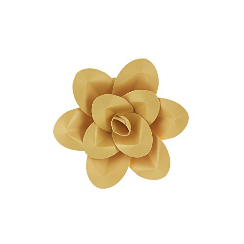 Mega Crafts 8 Inch Handmade Paper Flower in Gold, Home Décor, Wedding Bouquets & Receptions, Event Flower Planning, Table Centerpieces, Picture & Backdrop Wall Decoration, Garlands & Parties