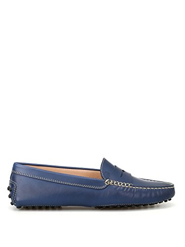 Blue Women's Loafers Tod's Leather Xxw00g00010d90u616 wn4qExS