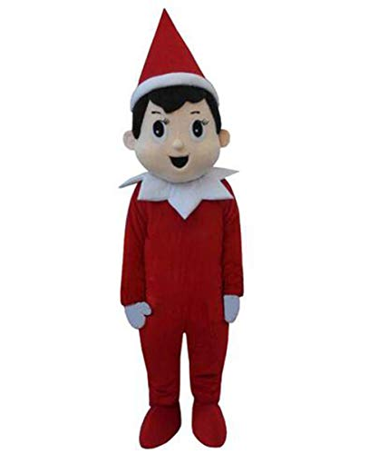 Christmas Creepy Elf Pinocchio On The Shelf Mascot Costumes Adult Cartoon Creepy Elf Pinocchio Cartoon Costumes -