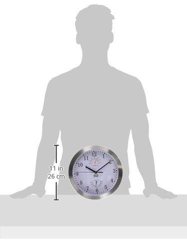 HITO™ modernen bunten Stille Nicht-tickende Wanduhr- 10 Zoll (T&H-weiß)