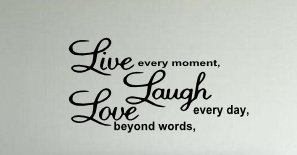 Live Laugh Love (W18) Wall Decal Vinyl Black & Words & Phrase Stickers Quote Word