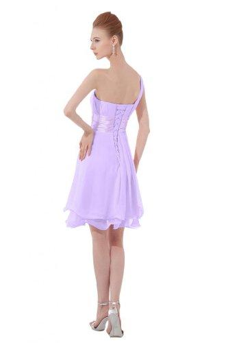 in Chiffon damigella da vestito tracolla Sunvary corta Lilac One abito d'onore Homecoming qZHx4tg
