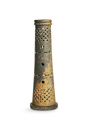 (Nagchampa Incense Stone Tower Cone Holder. Multiple Uses.)