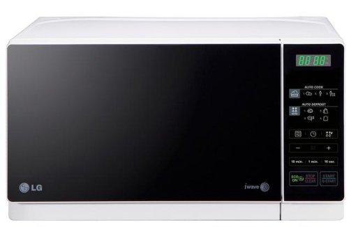 LG MH6043HAS Microondas con grill, Botón eco, 19 litros de capacidad, potencia mwo 700W, y potencia grill 600W, color blanco y negro