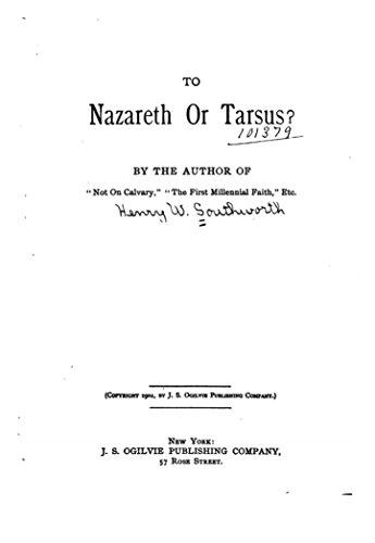 (To Nazareth or Tarsus)