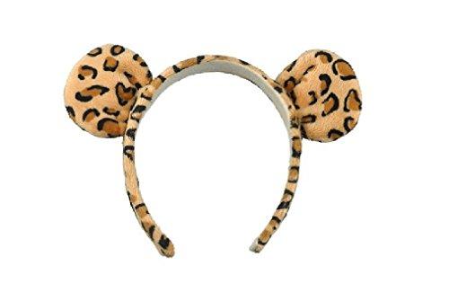 Jaguar Leopard Wild Cat Ears Headband Costume Accessory ()