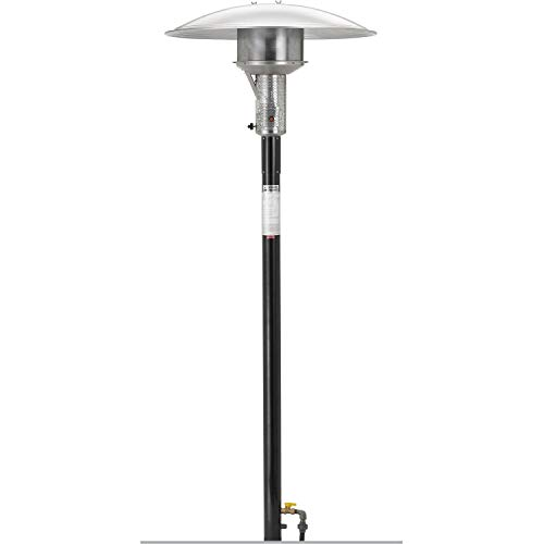 (Sunglo 50000 Btu 24-volt Natural Gas Post-mount Patio Heater - Black)