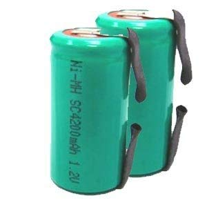 Two Sub-C Size 4200 NiMH Batteries with Tabs