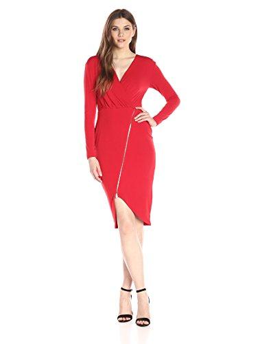 Rachel Rachel Roy Women's Zip Front Rouche Dress, Scarlet, XS (Rachel Roy Clothing compare prices)