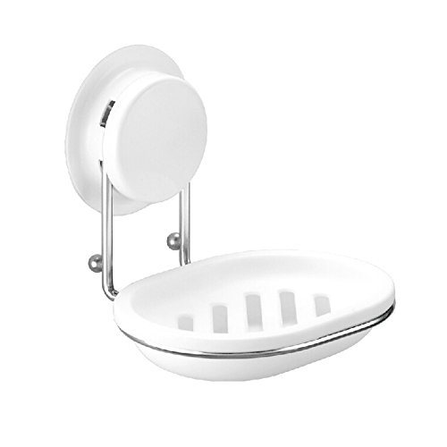 Stronger steel Soap Holders,Soap Staytion Case Powerful Suction Soap dish, White