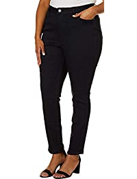 for Women Juniors Plus Hide Your Muffin Top Solid Jeans