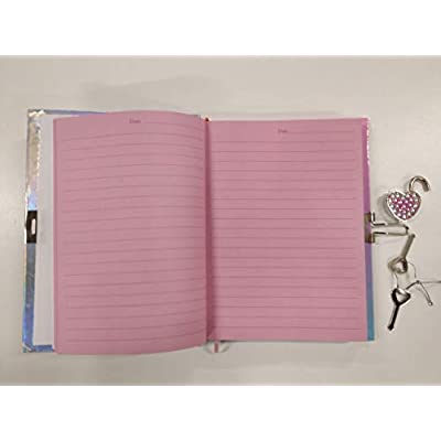"Hot Focus Llama Secret Diary with Lock – 7"" Journal Notebook with 300 Double Sided Lined Pages, Padlock and Two Keys for Kids: Kitchen & Dining"