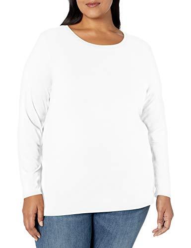 Amazon Essentials Women's Plus Size Long-Sleeve T-Shirt
