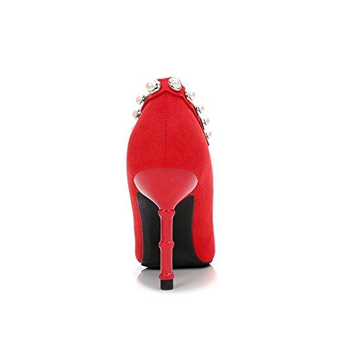 Inconnu Haut Talon Escarpins Femme Chaussure Pointue Aiguille Stiletto Pumps Fermé Clouté Élégant Escarpin Rouge 36 cfQ2H9Dd