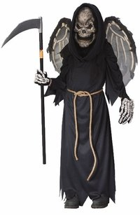 Kid's Winged Rim Reaper Halloween Costume (Size: Large 12-14) -