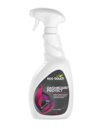 eco touch car interior cleaner and protectant for vinyl plastic leather and rubber surfaces. Black Bedroom Furniture Sets. Home Design Ideas