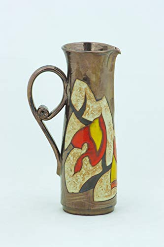 - Handmade Ceramic Jug, Stoneware Wine Pitcher, Autumn themed Jug, Christmas Decanter, 33 oz