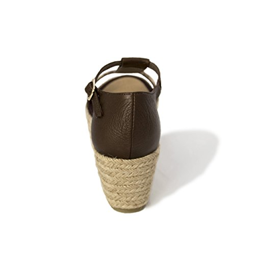 MTBALI - Espadrille Platform Sandals, Woman-Model Madagascar Brown