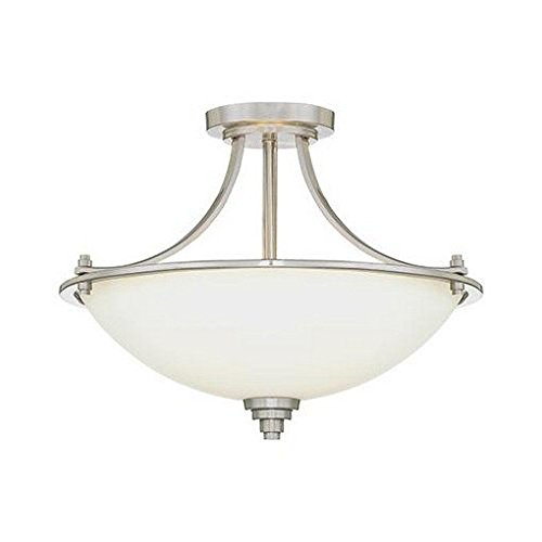 Millennium 7263-SN Three Light Semi-Flush Ceiling Mount, Pwt, Nckl, B S, Slvr.