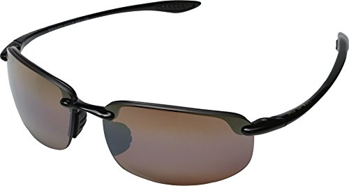 Maui Jim Unisex Ho'okipa Gloss Black/HCL Bronze - Sunglasses Maui Jim