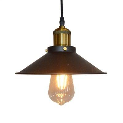 VENUSOP Vintage Kitchen Pendant Light, Antique Brass Hanging Fixture E26 / E27 Edison Base For Coffee, bar, restaurant ()