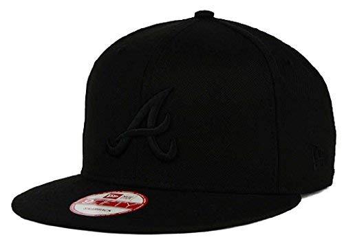 8235b1ac688 Atlanta Braves Snapback Hats. New Era Atlanta Braves MLB Black on Black  9FIFTY ...
