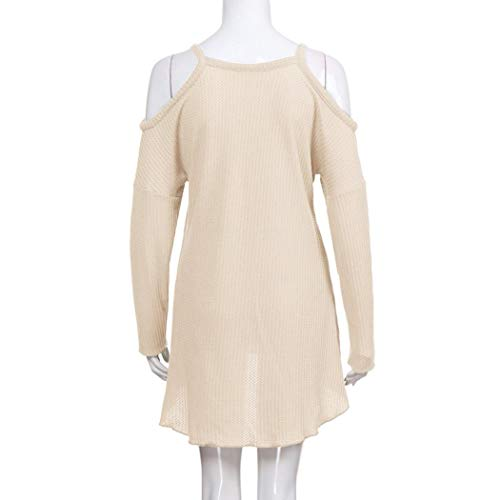 Beige Xmiral Longues Femme Col Chemisier Uni Manches Rond qwpqRf6v