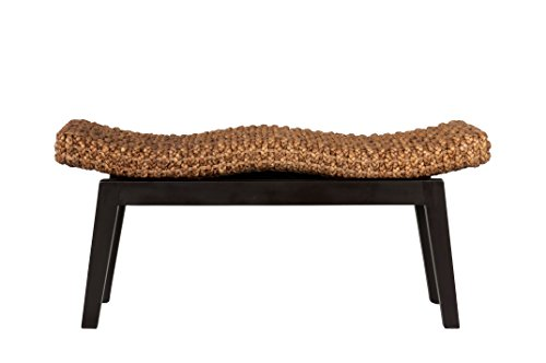 East at Main Myra Wood and Water Hyacinth Bench, Brown, (39x14x18) by East At Main