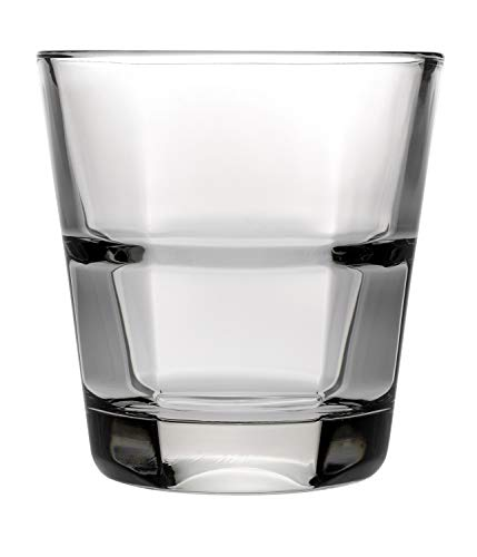 (Anchor Hocking 90252 Clarisse 10 Oz. Stackable Rocks Glass - 24 /)