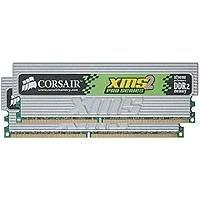 CORSAIR XMS2 PRO 2GB ( 2 x 1GB ) PC2-6400 800MHz 240-Pin DDR2 CL4 Dual Channel Desktop Memory Kit - TWIN2X2048-6400C4PRO