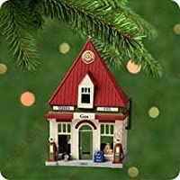 2001 Hallmark Ornament Service Station 18th in Nostalgic Houses and Shops Series