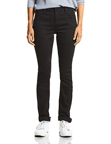 Street One, Vaqueros Slim para Mujer Schwarz (Black Soft Wash 11546)